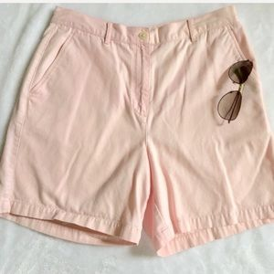 "LAUREN RALPH LAUREN high rise 7"" shorts"